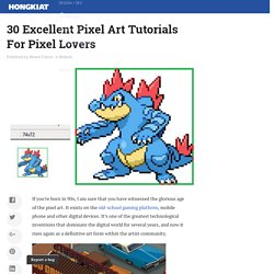 30 Excellent Pixel Art Tutorials For Pixel Lovers