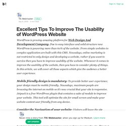 Excellent Tips To Improve The Usability of WordPress Website