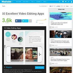 10 Excellent Video Editing Apps