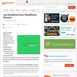 100 Excellent Free WordPress Themes | Developer's Toolbox | Smashing Magazine
