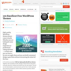 100 Excellent Free WordPress Themes | Developer's Toolbox