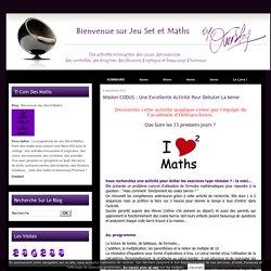 Mission CODUS : une excellente activité pour débuter la 6eme - Bienvenue Jeu Set et Maths