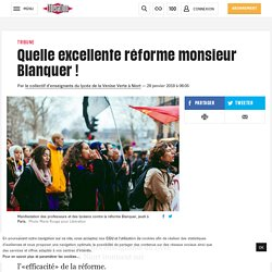 Quelle excellente réforme monsieur Blanquer!