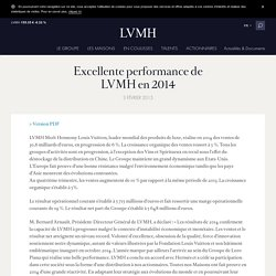 Excellente performance de LVMH en 2014