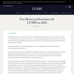 Excellente performance de LVMH en 2015