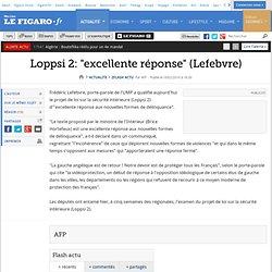 Flash actu : Loppsi 2: ''excellente réponse'' (Lefeb