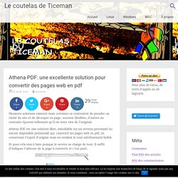 Athena PDF: une excellente solution pour convertir des pages web en pdf