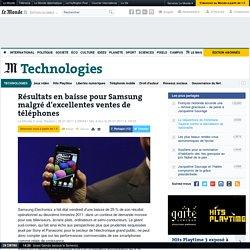 Résultats en baisse pour Samsung malgré d'excellentes ventes de téléphones