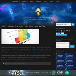 50 Excellents Tutoriels pour Illustrator en 3D