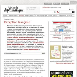 Exception française, par Dominique Vidal (Le Monde diplomatique, février 2004)