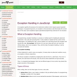 Exception Handling in JavaScript