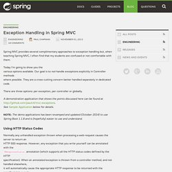 Exception Handling in Spring MVC