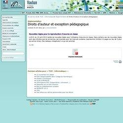 Droits d'auteur et exception pédagogique - Collège Vauban à Briançon
