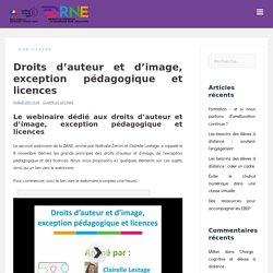 Droits d'auteur et d'image, exception pédagogique et licences