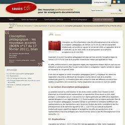 L'exception pédagogique : les nouveaux accords (BOEN n°17 du 17 février 2011), bilan