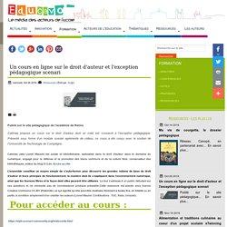 Un cours en ligne sur le droit d'auteur et l'exception pédagogique scenari