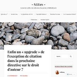 S.I.Lex – Le droit de citation augmenté, une libération pour l'auteur