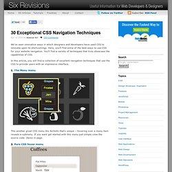 30 Exceptional CSS Navigation Techniques