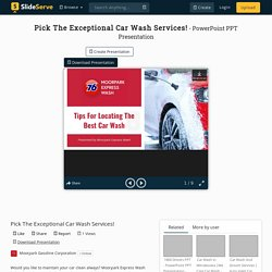 Pick The Exceptional Car Wash Services!