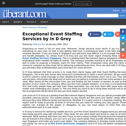 Exceptional Event Staffing Services by In D Grey
