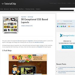 30 Exceptional CSS Based Layouts