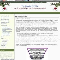 Exceptionalities - The Special Ed Wiki