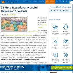 28 More Exceptionally Useful Photoshop Shortcuts