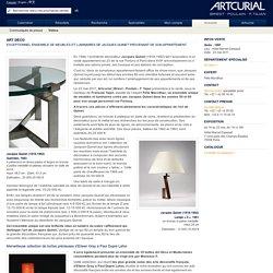Art déco : Exceptionnel ensemble de meubles et luminaires de Jacques Quinet provenant de son appartement à Paris, vente le 23 mai 2011