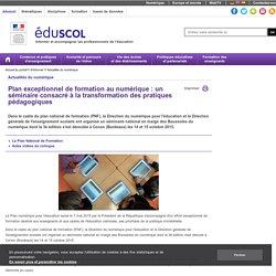 PAF transformation des pratiques pédagogiquese