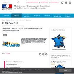 L'Opération Campus, plan exceptionnel en faveur de l'immobilier universitaire
