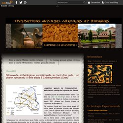 Châteaumeillant : découverte d'un chariot romain du III ème siècle