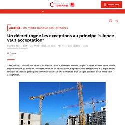 """Un décret rogne les exceptions auprincipe """"silence vaut acceptation"""""""