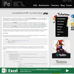 Les exceptions en PHP : try, catch, finally et throw