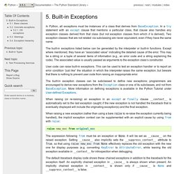 5. Built-in Exceptions — Python 3.5.1 documentation