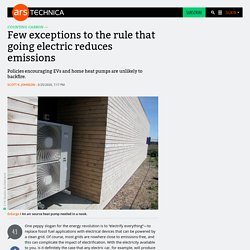 Few exceptions to the rule that going electric reduces emissions