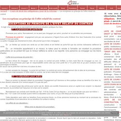 Les exceptions au principe de l'effet relatif du contrat - Cours de droit