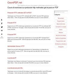 Cours et excercice gratuit sur protocole http methodes get et post