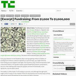 [Excerpt] Fundraising: From $1,000 To $1,000,000