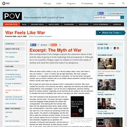Excerpt: The Myth of War