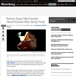 Excess Sugar May Double Heart Disease Risk, Study Finds