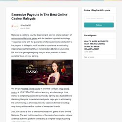 Excessive Payouts In The Best Online Casino Malaysia - 1PlayStar365