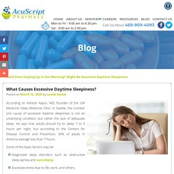 What Causes Excessive Daytime Sleepiness?