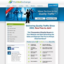 Pro Click Exchange where Pros Advertise for Website Traffic