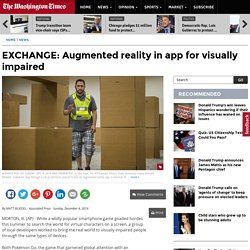 EXCHANGE: Augmented reality in app for visually impaired