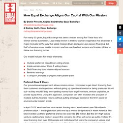 How Equal Exchange Aligns Our Capital with Our Mission