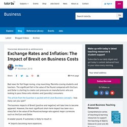 3.7.5. Exchange Rates and Inflation: The Impact of Brexit on Business Costs