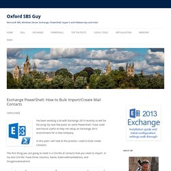 Exchange PowerShell: How to Bulk Import/Create Mail Contacts - Oxford SBS Guy