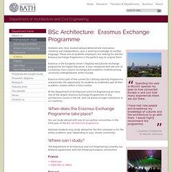 Erasmus study exchange programme