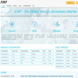 ICBIT Stock Exchange | Redefining the way bitcoin exchanges work!