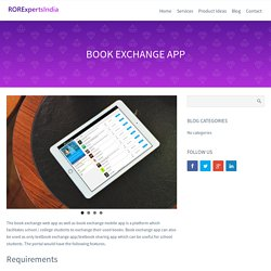 Book Exchange Mobile App, College Textbook Sharing App, RORExpertsIndia